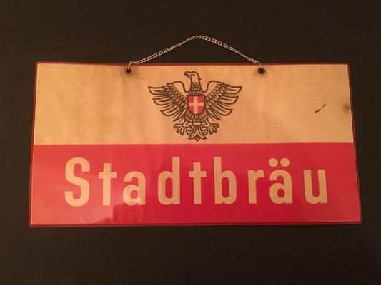 061 Wiener Stadtbräu, Pappe / Kunststoff, Abm. 15 cm x 30 cm, kein Impressumg, ca. 1950