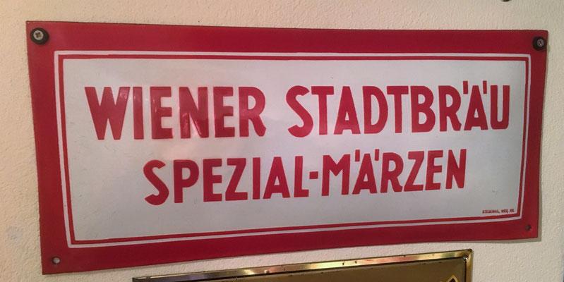 037 Wiener Stadtbräu, Email, Abm. 22 cm x 50 cm, Impressum: Stegemail, Wien, XVI, ca. 1930
