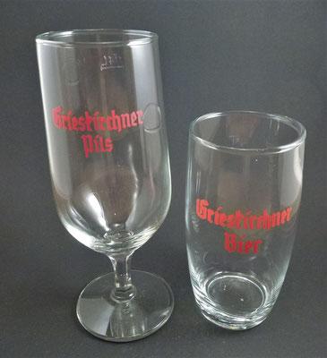 OE035, OE036,Brauerei Grieskirchen, OÖ  (Glas von ca. 1960)