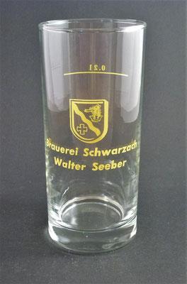 Brauerei Schwarzach, Walter Seeber, Schwarzach im Pongau, + 2008 (Glas von ca. 1980)