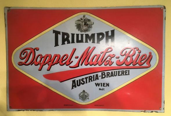072 Austria Brauerei, Email, Abm. 60 cm x 90 cm, kein Impressum, ca. 1930