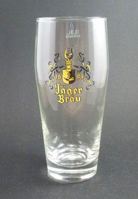 OE045, Brauerei Wahlmühle , Jägerbräu, Sierninghofen, Bezirk Steyr Land, OÖ, + 1978  (Glas von ca. 1970)