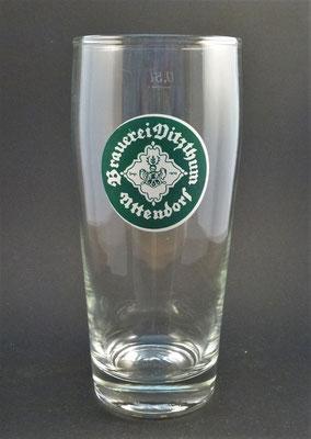 OE151, Privatbrauerei Vitzthum, Uttendorf, Bezirk Braunau, OÖ  (Glas von ca. 1960/1970)