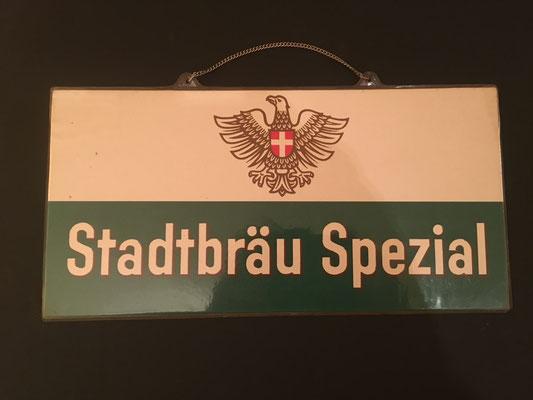 120 Wiener Stadtbräu, Pappe / Kunststoff, Abm. 15 cm x 30 cm, kein Impressumg, ca. 1950