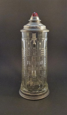 OE145, Fink Bräu , Braunau, OÖ, + 1911  (Glas von ca. 1900)