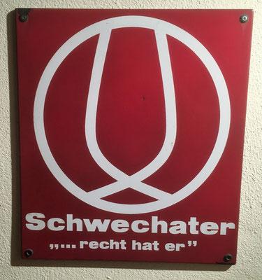 019 Brauerei Schwechat, Email, Abm. 45cm x  40 cm, Impressum: Austria Email, ca. 1970