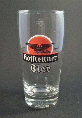 Brauerei Hofstetten, St. Martin i. Mühlkreis, Bezirk Rohrback, OÖ  (Glas von ca. 1980)