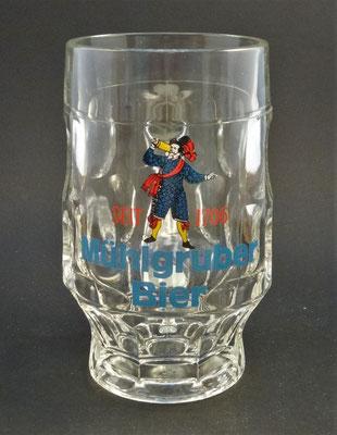 """OE089, Brauerei Mühlgrub, """"Schartner"""" Fein Ges.m.b.H., Bad Hall, Bezirk Steyr Land, OÖ, + 1986  (Glas von ca. 1980)"""