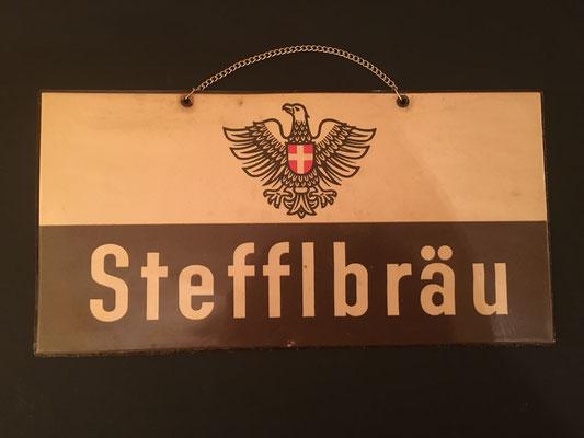 062 Wiener Stadtbräu, Pappe / Kunststoff, Abm. 15 cm x 30 cm, kein Impressumg, ca. 1950