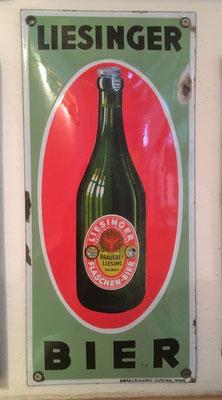 005 Brauerei Liesing, Email, Abm. 36 cm x 16,5 cm, Impressum: Emaillierwerke Austria, Wien, ca. 1930