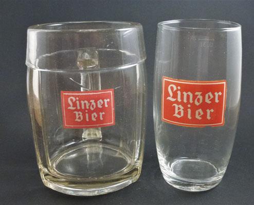 OE061,OE062,  Österreichische Brau AG, Linzer Brauerei, OÖ,  + 1982  (Glas von ca. 1950)