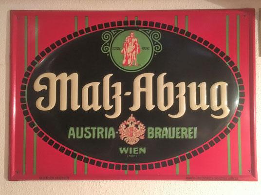 017 Austria Brauerei, Blech,  Abm. 34,5 x 39,5 cm, Impressum: Papier u. Blechdruck Industrie Wien XIX, ca. 1910
