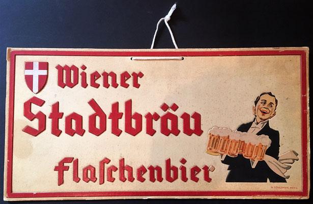 123 Wiener Stadtbräu, Presskarton, Abm. 17,5 cm x 35 cm, Impressum: M.Schaubmayr, Wien V.  ,  ca. 1920
