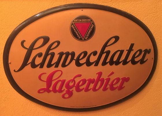 012 Brauerei Schwechat, Blech, Abm. 34 cm x 47 cm, Impressum: Papier u. Blechdruck Industrie Wien XIX, ca. 1920
