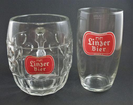 OE063, OE064, Österreichische Brau AG, Linzer Brauerei, OÖ,  + 1982  (Glas von ca. 1960)
