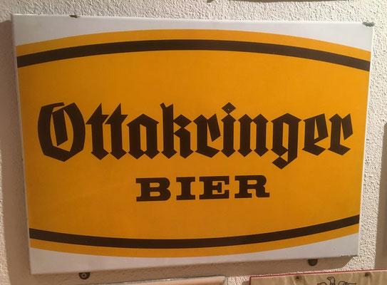 016 Ottakringer Brauerei, Email, Abm. 39,5 cm x 55 cm, Impressum: Austria Email, ca. 1960