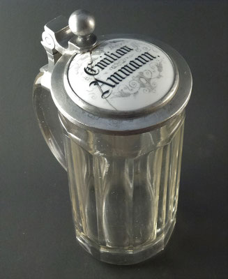 Brauerei Amann Emilian, Lech-Aschau / Reutte, Tirol + 1906 (Glas von ca. 1900)