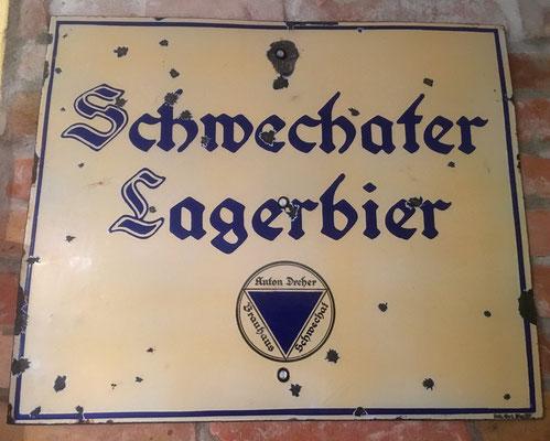 112 Brauerei Schwechat, Email, Abm. 50 cm x 60 cm, Impressum: Beha-Werk Wien XIII, ca. 1920