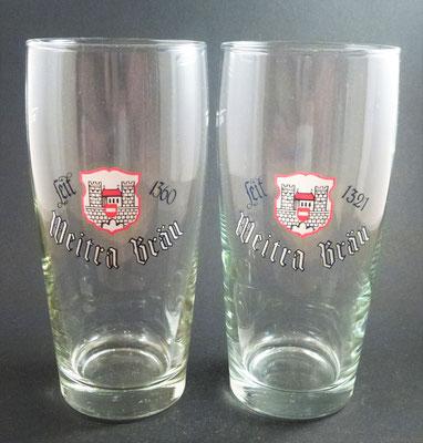 Weitraer Bier, NÖ - zwei verschiedene Gründungsdaten  (Glas von ca. 1990)