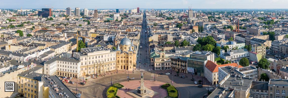 Łódź, Plac Wolności, zdjęcia Łodzi Dark Frame