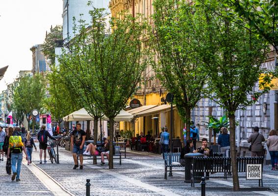 ulica Traugutta, woonerf, zdjęcia Łodzi