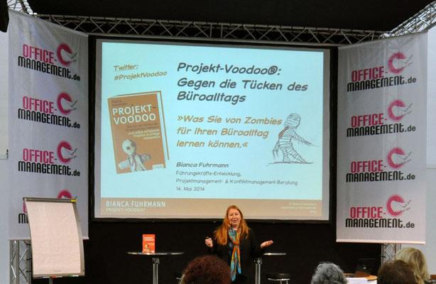 © Bianca Fuhrmann, Projekt-Zombie-Vortrag auf der Office Management Messe in Stuttgart, 2014