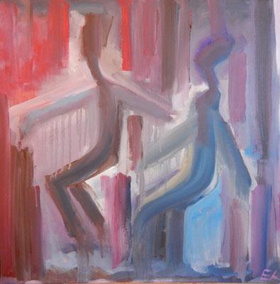 La danse des âmes-sœurs, 40x40, 550 € TTC