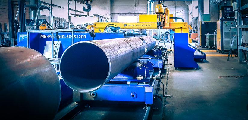 Rohre Rohr cnc zuschnitt Lohnfertigung Metallbau Stahlbau Anlagenbau plasmaschnitt Fertigung körnen markieren scannen fase schneiden Bauteil Bauteile