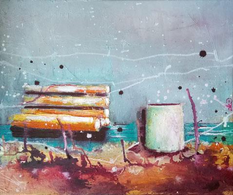 "Anja Kühnrich-Wilke, ""I"", 2016,  Öl auf Leinwand, 40 x 50 cm"