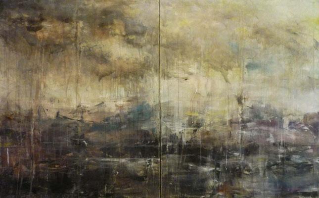 "Anja Kühnrich-Wilke, ""I"", 2008, Acryl auf Leinwand, 100 x 160 cm"
