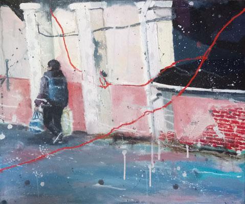 """Anja Kühnrich-Wilke, """"III"""", 2016,  Öl auf Leinwand, 40 x 50 cm"""