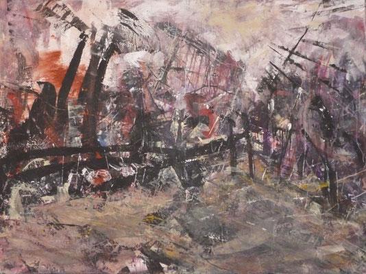 "Anja Kühnrich-Wilke, ""12"", 2009 Acryl auf Leinwand, 120 x 160 cm"