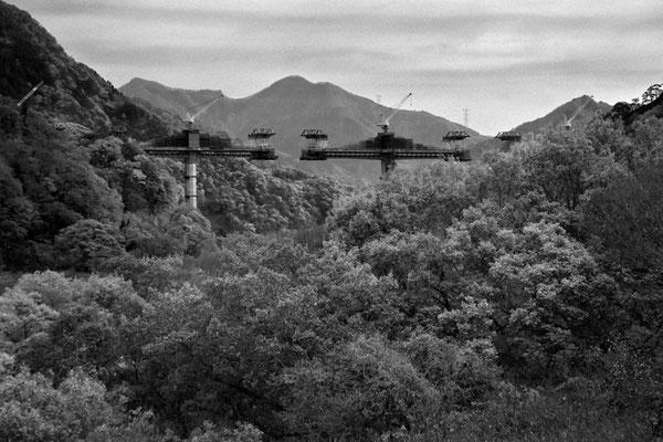 建設中の八ッ場ダム 猿の視点で