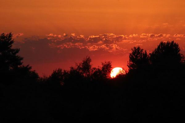 Entschädigung durch einen traumhaften Sonnenuntergang
