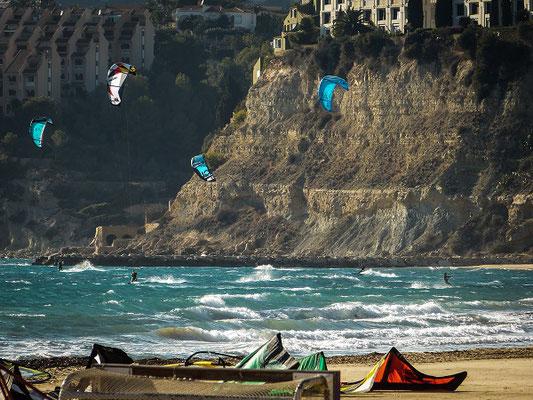 Kitesurfer bei Calpe