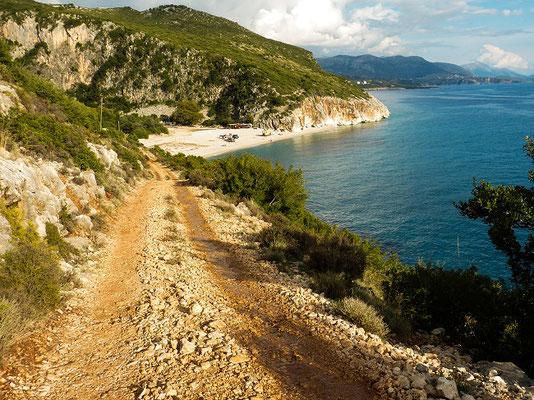 Abfahrt zum Gjilpe-Strand