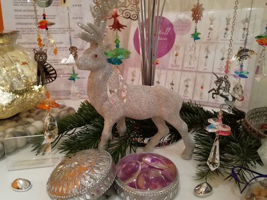 Kristall Phantasien - Einhorn, Katze, Baum, Engel, Blatt, Rotkelchen, Delphine, Elfe