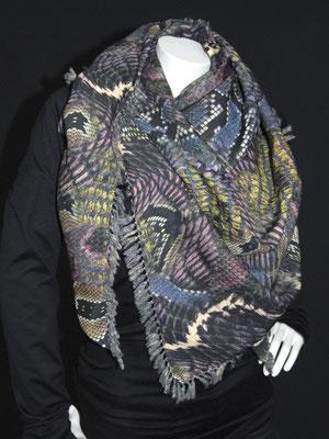 3-Ecks Schal, Schlangen violett