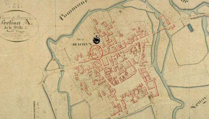 Plan of Bracieux