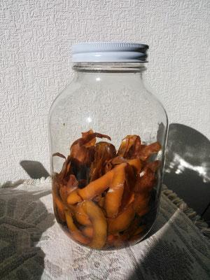 柿の皮で酵母