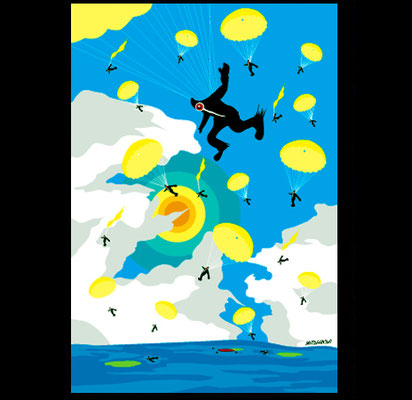 skydiving/Illustrator