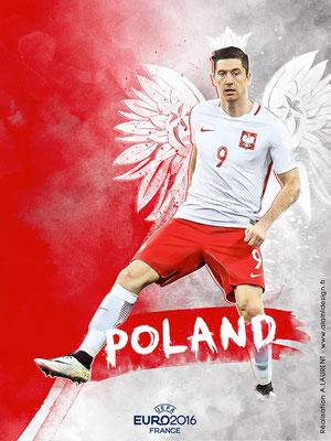 Pologne UEFA Euro 2016 - Affiche