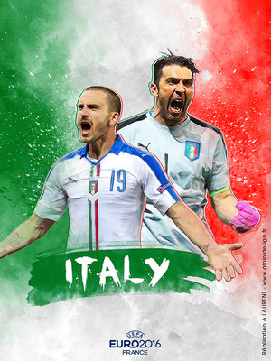 Italie UEFA Euro 2016 - Affiche