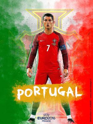 Portugal UEFA Euro 2016 - Affiche