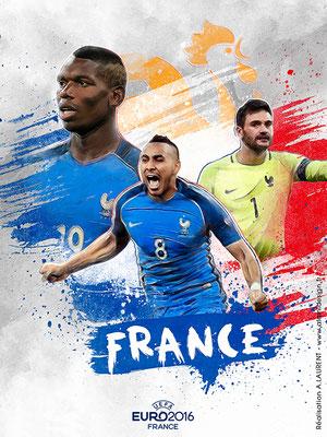 Equipe de France UEFA Euro 2016 - Affiche
