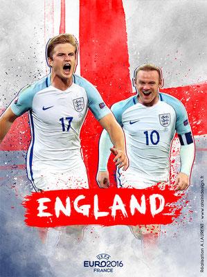 Angleterre UEFA Euro 2016 - Affiche