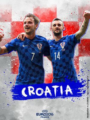 Croatie UEFA Euro 2016 - Affiche