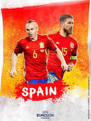 Espagne UEFA Euro 2016 - Affiche