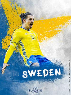 Suède UEFA Euro 2016 - Affiche