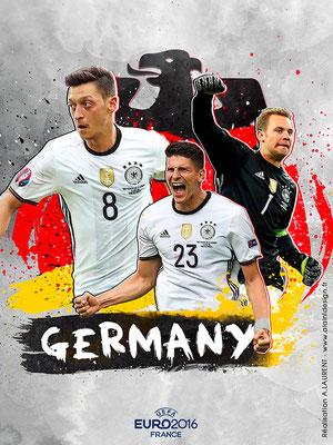 Allemagne UEFA Euro 2016 - Affiche